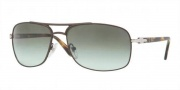 Persol PO2407S Sunglasses Sunglasses - 101883 Matte Brown / Crystal Polarized Green Gradient Photochromic