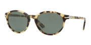 Persol PO3015S Sunglasses Sunglasses - 124/31 Spotted Light Havana / Crystal Green