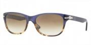 Persol PO3020S Sunglasses Sunglasses - 955/51 Havana Blue / Crystal Brown Gradient