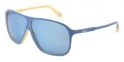 D&G DD3073 Sunglasses Sunglasses - 194455 Top Azure on Yellow Blue Mirror