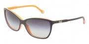 D&G DD3074 Sunglasses Sunglasses - 19468G Top Black on Orange / Gray Gradient