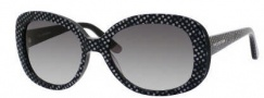 Juicy Couture Juicy 517/S Sunglasses Sunglasses - 0RE8 Black / Dots (Y7 Gray Gradient Lens)