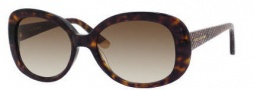 Juicy Couture Juicy 517/S Sunglasses Sunglasses - 0086 Dark Havana (Y6 Brown Gradient Lens)