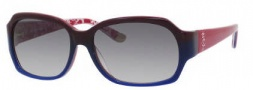 Juicy Couture Juicy 522/S Sunglasses  Sunglasses - 0RH1 Navy Red (Y7 Gray Gradient Lens)