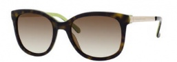 Kate Spade Gayla/S Sunglasses Sunglasses - 0DV2 Tortoise Kiwi (Y6 Brown Gradient Lens)