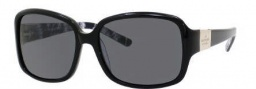 Kate Spade Lulu 2/P/S Sunglasses Sunglasses - JTRP Black Cream Black Florel (RA Gray Polarized Lens)