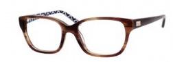 Kate Spade Lina Eyeglasses Eyeglasses - 0X03 Havana Pink Octagon