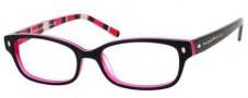 Kate Spade Lucyann Eyeglasses Eyeglasses - 0X78 Black Pink Striped