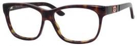 Gucci 3543 Eyeglasses Eyeglasses - 0GAZ Dark Havana / Bkgnrd