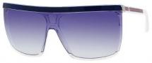 Gucci 3554/S Sunglasses Sunglasses - 0KS4 Crystal / Blue (KX Dark Blue Gradient Lens)