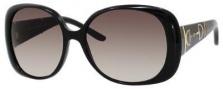 Gucci 3536/S Sunglasses Sunglasses - 05E6 Shiny Black (ED Brown Gradient Lens)