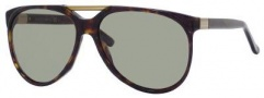 Gucci 3501/S Sunglasses Sunglasses - 0086 Dark Havana (DJ Green Lens)