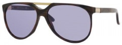 Gucci 3501/S Sunglasses Sunglasses - 02B7 Horn Walnut (UR Light Lilac Lens)