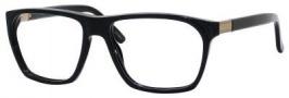 Gucci 1005 Eyeglasses Eyeglasses - 0807 Black / Antique Gold