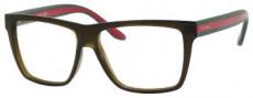 Gucci GG 1008 Eyeglasses Eyeglasses - 053U Brown / Green Red