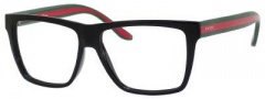 Gucci GG 1008 Eyeglasses Eyeglasses - 051N Shiny Black / Red Green