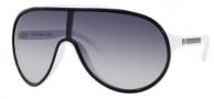 Gucci 1004/S Sunglasses Sunglasses - 0WRP Black White (JJ Gray Gradient Lens)