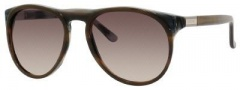 Gucci 1014/S Sunglasses Sunglasses - 0R26 Olive Horn (ED Brown Gradient Lens)