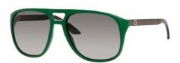 Gucci 1018/S Sunglasses  Sunglasses - 0KR5 Green (EU Gray Gradient Lens)