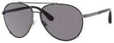 Marc by Marc Jacobs MMJ 301/S Sunglasses Sunglasses - 0J0P Black Ruthenium (Y1 Gray Lens)