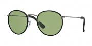 Ray Ban RB3475Q Sunglasses Sunglasses - 029/14 Matte Gunmetal / Crystal Green