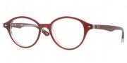 Ray Ban RX5257 Eyeglasses Eyeglasses - 5112 Top Bordeaux on Transparent