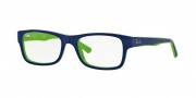 Ray Ban RX5268 Eyeglasses Eyeglasses - 5182 Top Blue on Green