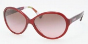 Coach HC8008 Sunglasses Alicia Sunglasses - 502914 Burgundy Brown / Gradient Pink