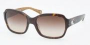 Coach HC8021B Sunglasses Ella Sunglasses - 503313 Dark Tortoise / Brown Gradient