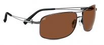 Serengeti Sassari Sunglasses Sunglasses - 7665 Shiny Gunmetal / Drivers Polarized