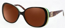 Tory Burch TY7036 Sunglasses Sunglasses - 918/11 Black Yellow Green / Gray Gradient