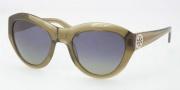 Tory Burch TY7037 Sunglasses Sunglasses - 666/37 Olive / Blue Green Polarized