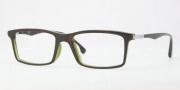 Ray Ban RX5269F Eyeglasses Eyeglasses - 2383 Top Havana on Green OP