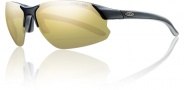 Smith Optics Parallel D Max Sunglasses Sunglasses - Matte Black / Polarized Gold Mirror / Ignitor Clear