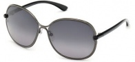 Tom Ford FT0222 Leila Sunglasses Sunglasses - 08B Shiny Gunmetal / Gradient Smoke