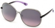 Tom Ford FT0222 Leila Sunglasses Sunglasses - 14Z Shiny Light Ruthenium / Gradient