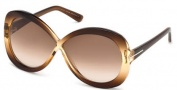 Tom Ford FT0226 Margot Sunglasses Sunglasses - 47F Light Brown / Gradient Brown