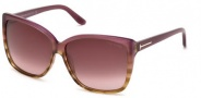 Tom Ford FT0228 Lydia Sunglasses Sunglasses - 83Z Violet / Gradient Mirror Violet