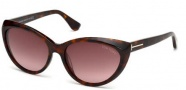 Tom Ford FT0231 Martina Sunglasses Sunglasses - 52F Dark Havana / Gradient Brown