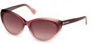 Tom Ford FT0231 Martina Sunglasses Sunglasses - 83Z Violet / Gradient Mirror Violet
