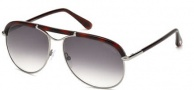 Tom Ford FT0235 Marco Sunglasses Sunglasses - 14B Shiny Light Ruthenium / Gradient Smoke