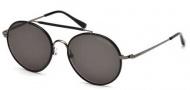 Tom Ford FT0246 Samuele Sunglasses Sunglasses - 09N Matte Gunmetal / Green
