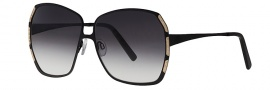 Caviar 5003 Sunglasses Sunglasses - 15 White / Gold With Clear Crystal Stone (Gray Lens)