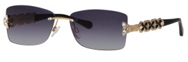 Caviar 5573 Sunglasses Sunglasses - 24 Gold With Clear / Black Crystal Stones W/ Gray Lens