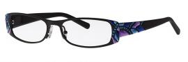 Caviar 1748 Eyeglasses Eyeglasses - 24 Black w/ Purple Gray Blue Accents w/ Blue Crystal Stones