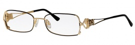 Caviar 2001 Eyeglasses Eyeglasses - 24 Black / Gold With Leopard Accents w/ Clear Crystal Stones
