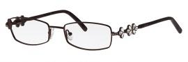 Caviar 2332 Eyeglasses Eyeglasses - 16 Brown W/ Clear Crystal Stones