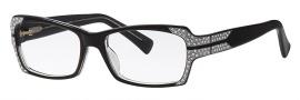 Caviar 6169 Eyeglasses Eyeglasses - 24 Black w/ Silver Leafing w/ Clear Crystal Stones