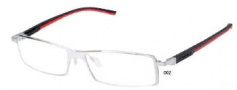 Tag Heuer Automatic 0802 Eyeglasses Eyeglasses - 002 Pure Frame / Black - Red Temples