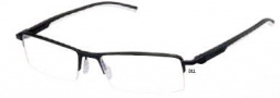 Tag Heuer Automatic 0821 Eyeglasses Eyeglasses - 011 Matte Black Front / Black - White Temples
